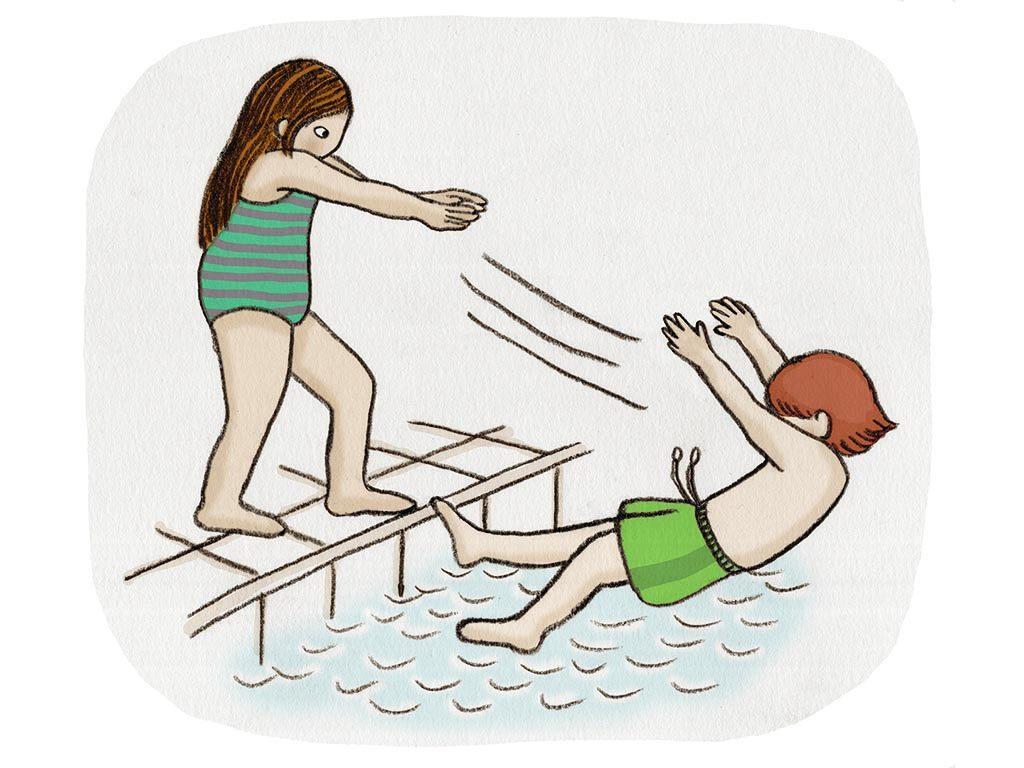 Illustration över badregler
